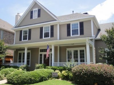 Exterior painting by CertaPro house painters in Dallas, TX