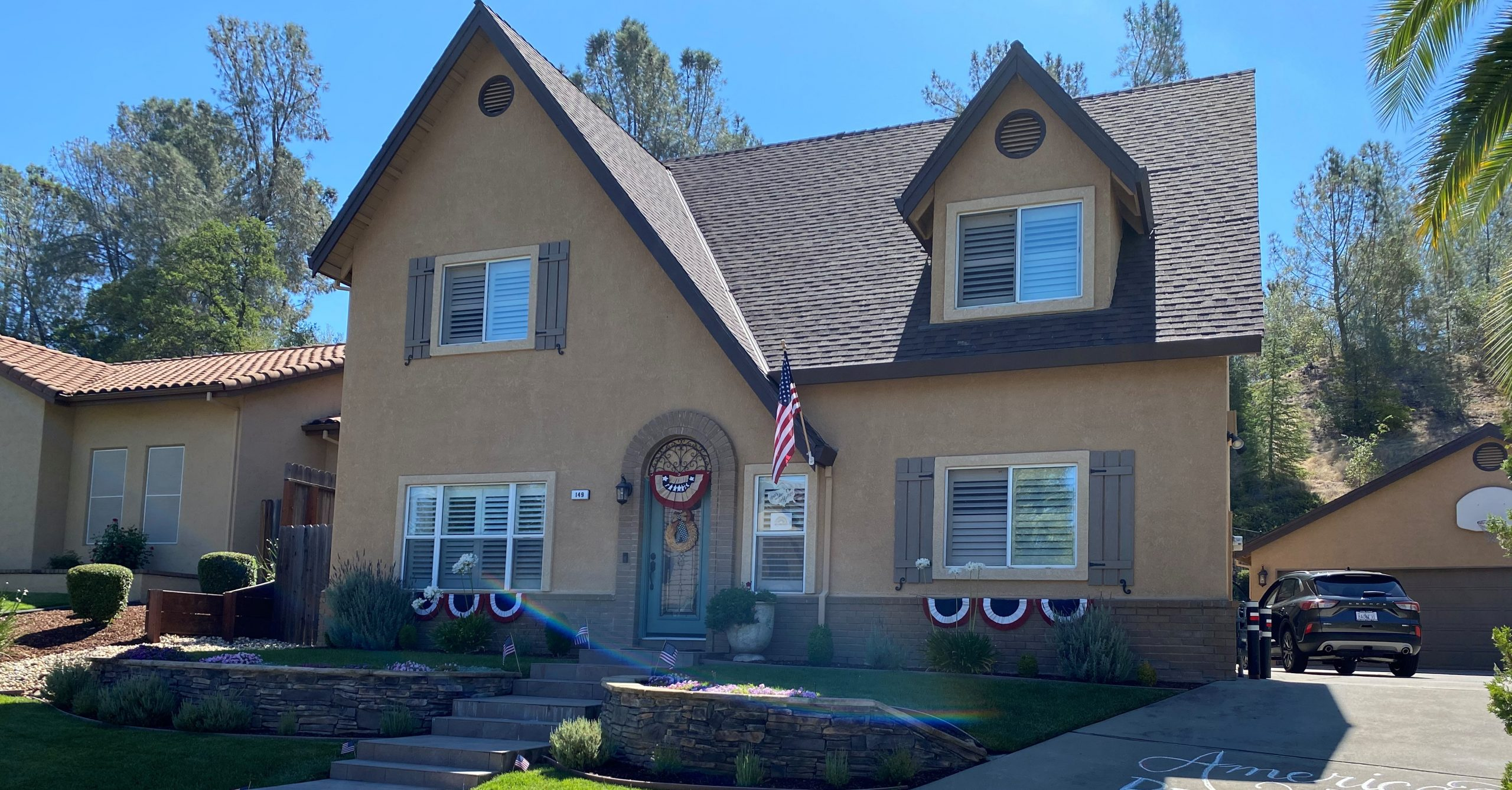 Exterior House Painting Project in Folsom, CA Before