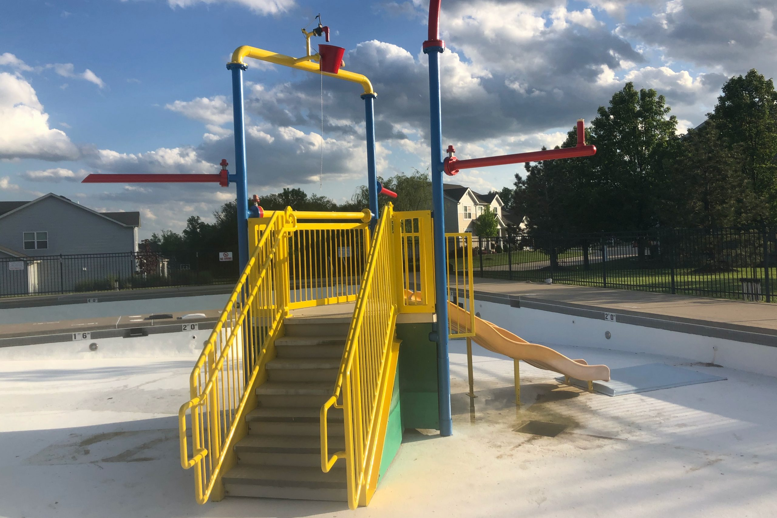 Play area after painting