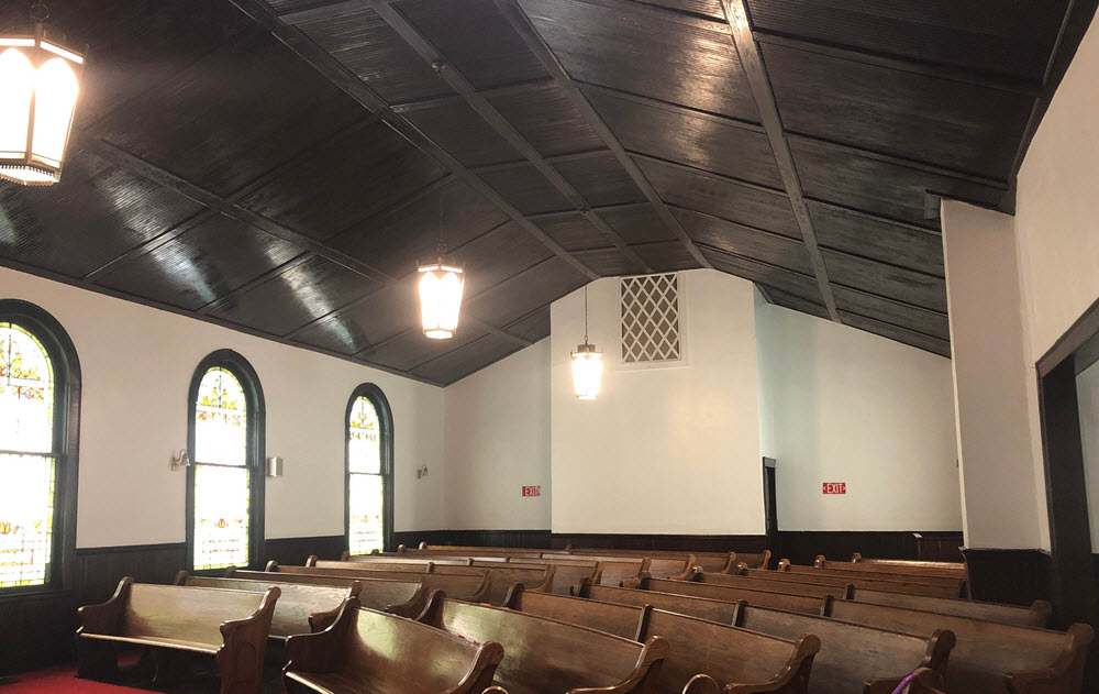 Lexington Church Ceiling Painting After