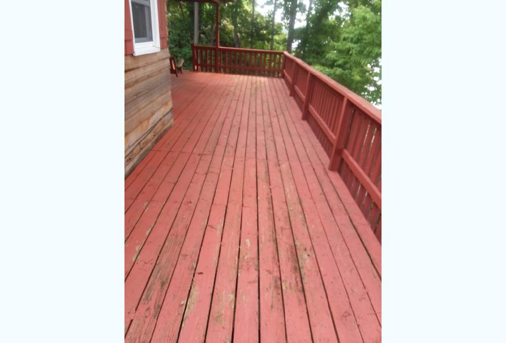 Belmont Deck Painting – SW3020 Cape Cod Red Before