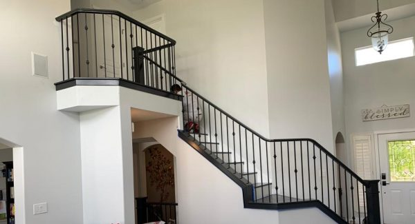 after painting staircase handrail
