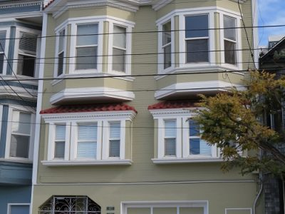 Exterior house painting in Bernal Heights by CertaPro Painters of San Francisco, CA