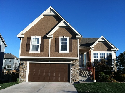 Exterior painting by CertaPro house painters in Olathe, KS