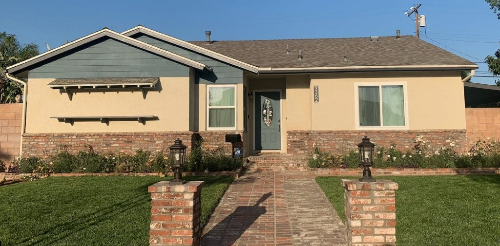 After exterior house painting in Northridge, CA.