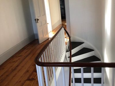 Interior stair painting by CertaPro painters in Grafton, MA