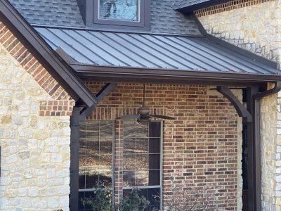 Eves, soffits, posts, shutters, & porch ceiling in Midlothian, TX