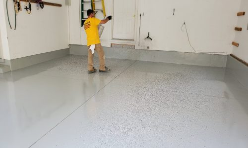 Residential Garage Floor Refinishing In-Progress