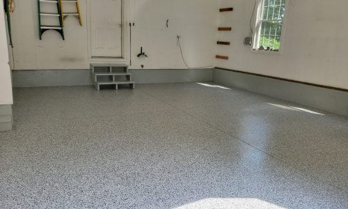 Residential Garage Floor Refinishing After