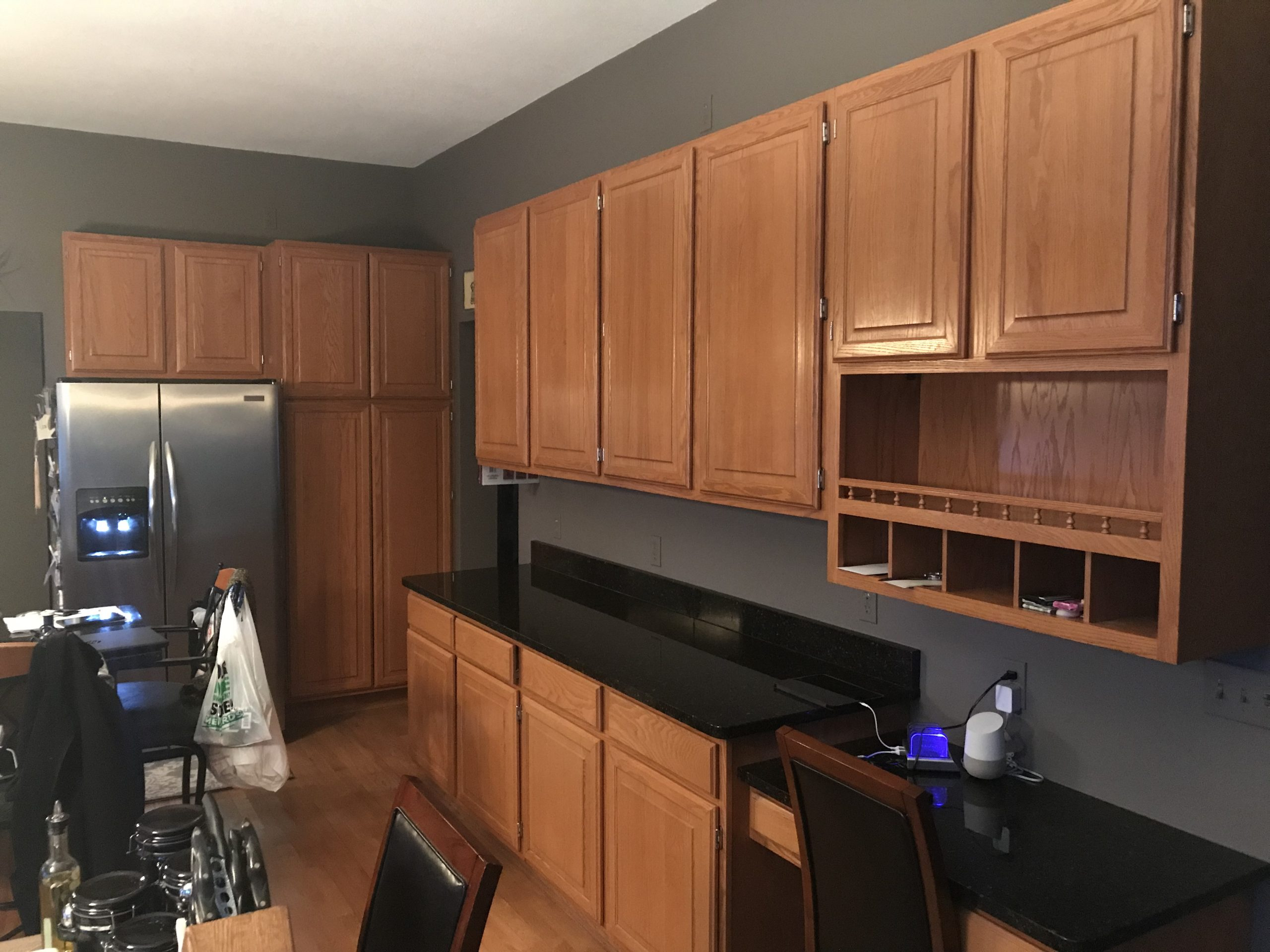 Residential Interior Cabinet Painting Project Before