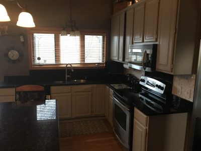 Kitchen Cabinet Repainting Project Eden Prarie, MN