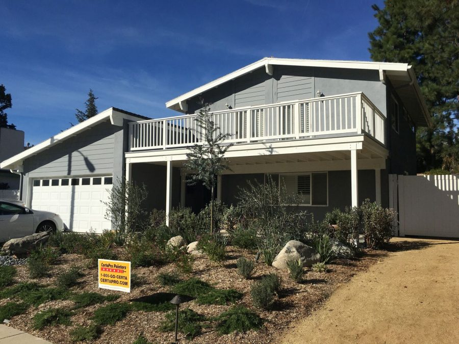 Exterior painting by CertaPro house painters in Agoura Hills, CA