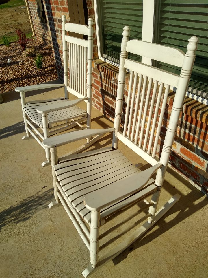 And Sometimes We Paint Rocking Chairs… Before