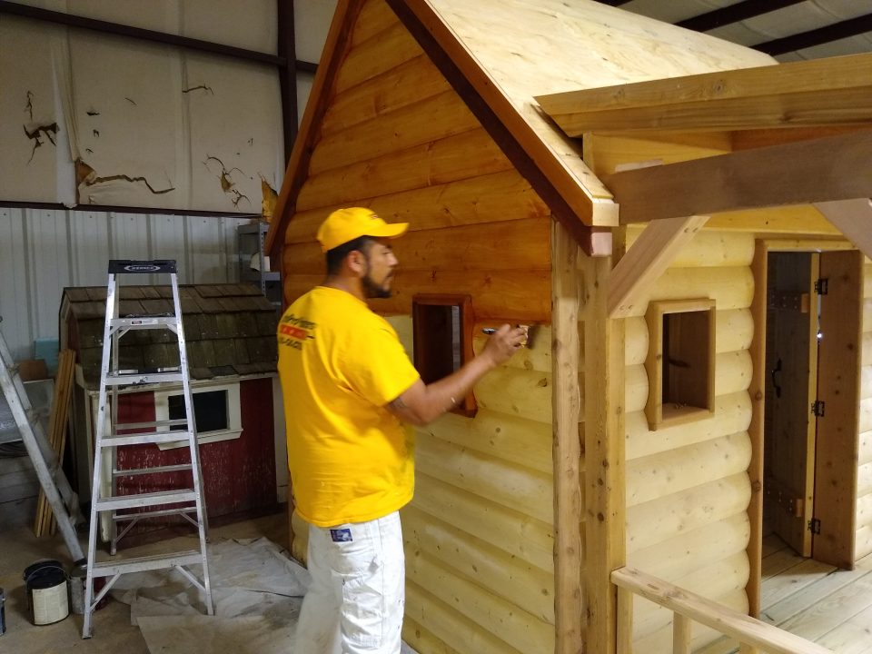 A charity driven playhouse staining Before