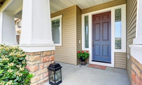 A warm and inviting entryway