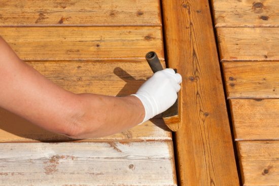 Exterior deck staining service.
