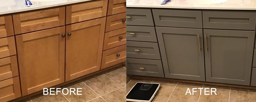 before and after painting cabinets in tysons va