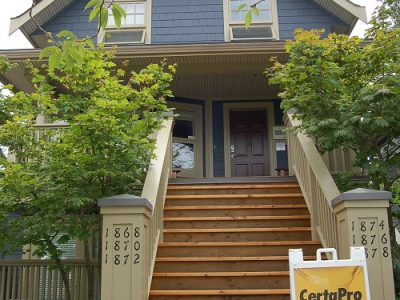 Exterior house painting in Kitsilano by CertaPro Painters of Vancouver