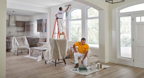 house painters working inside home