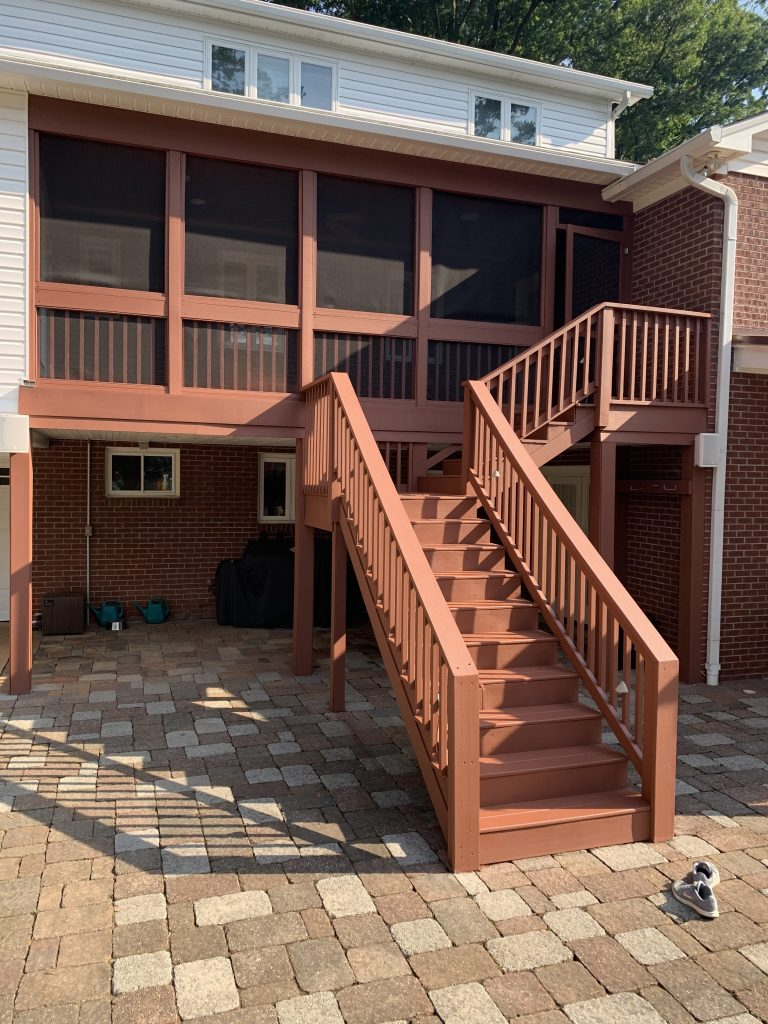 Deck Power Wash, Stain, and Restoration After