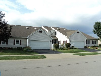 Commercial Townhome painting by CertaPro commercial painters in Buffalo, NY