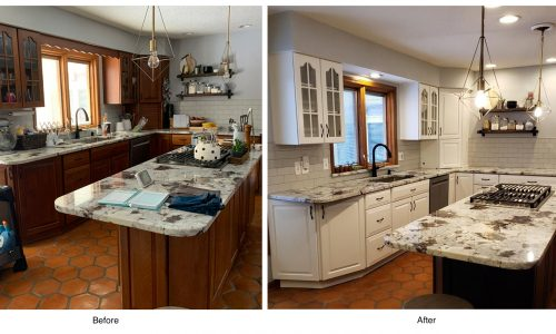 Kitchen Cabinet - Before and After