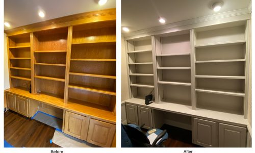 Shelves - Before and After
