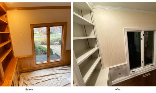 Shelves & Trim - Before and After