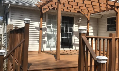 Deck & Pergola Staining Project