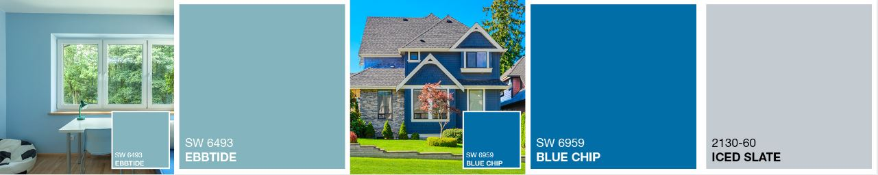 blue color ideas for home exteriors
