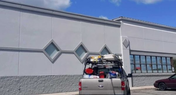 retail exterior painting project