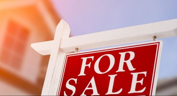 for sale sign on home