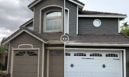 Before & After Siding Painting Project